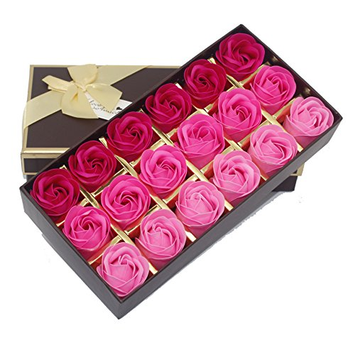 Floral Badeduft Seife Rose Blume, Pink, 23X4.5X12cm (Girl Naughty School Top)