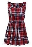 SbuyS Girl's Maroon Lurex Plaid Dress