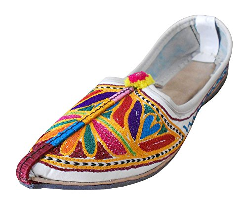 kalra Creations Chaussures de ethnique indien traditionnel en cuir pour femme Multicoloured