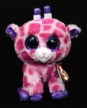 New TY Beanie Boos Cute Twigs the pink giraffe Plush Toys 6'' 15cm Ty Plush Animals Big Eyes Eyed Stuffed Animal Soft Toys for Kids Gifts by Ty Beanie Boos