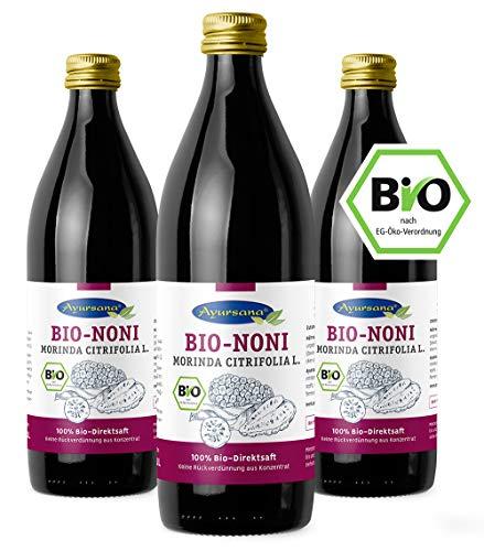 Ayursana - 3 x BIO Nonisaft 100% Direktsaft, fermentiert (3 x 1000 ml)