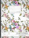 "Zeichen- & Skizzenbuch: DIN A4 • 100+ Seiten, Soft Cover, Register, ""Kolibri"" • Original #GoodMemos Sketchbook • Perfekt als Skizzenbuch, Übungsheft, Storyboarding"