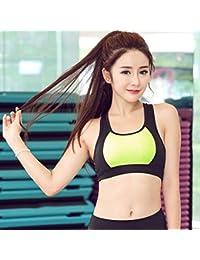 ny Shocked Gather Movimiento Bra Rápido Seco Transpirable Running Yoga Fitness Sin Anillo De Acero Ropa Deportiva ( Color : Verde , Tamaño : M )