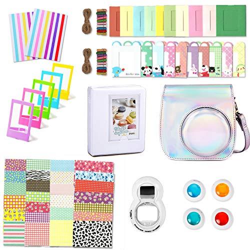 Leebotree Accessoires Compatible avec Appareil Photo Instax Mini 9, Mini 8/8+, Le Package Comprend étui,Album, lentille, filtres, Cadres et Autres (Argent Magique II)