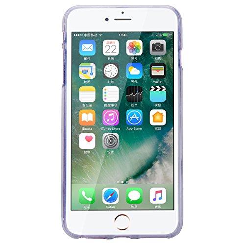 GrandEver iPhone 7 Plus / iPhone 8 Plus Glitzer Hülle Silikon Handyhülle Gel TPU Bumper Bunt Mandala Schutzhülle Schwarz Handytasche Anti-Kratzer Rückschale Ultra Dünnen Soft Case Cover - E E