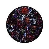 Moooi Carpets Fool's Paradise Teppich Ø250cm, schwarz rot blau