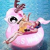 Hinchable colchonetas, joylink Juguete Hinchable Flotante Gigante del Piscina Cama Flotante General y Anillo de la natación Silla de la recreación del Agua para La Fiesta Piscina (Size 43'x 45')