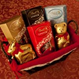Lindt Christmas Chocolate Hamper – with Milk, Assorted,...
