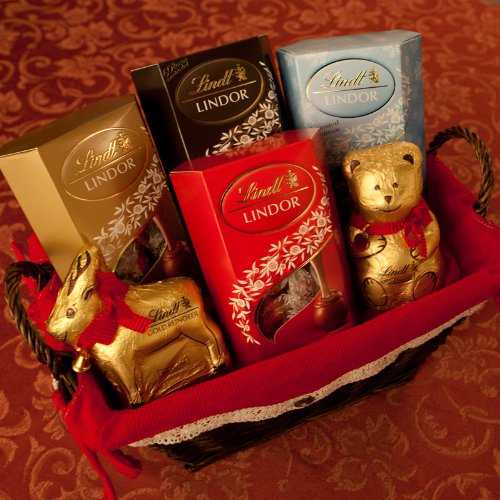 Lindt Christmas Chocolate Hamper � with Milk, Assorted, Dark, 2016 Winter Edition Hazelnut Truffles, Lindt Teddy and Reindeer