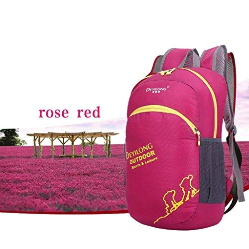Ali pieghevoli da esterno sacchetto impermeabile zaino esterno borsa pelle avanzata protezione solare impermeabile Ripstop rosa