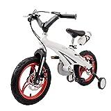 """Yhz@ Bici per Bambini 2-4 Anni Bici per Bambini Unisex Carro a 12 Pollici Mountain Carke con Ruote di addestramento Bicicletta per Bambini (Colore : Bianca, Dimensioni : 12"""")"""