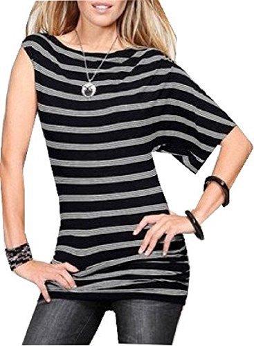 Streifen Shirt in Longform von Laura Scott - Schwarz/Weiß Schwarz/Weiß