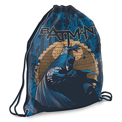 Batman - Beutel - Turnbeutel - Schuhbeutel - blau - braun