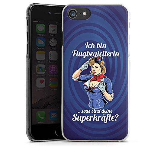 Apple iPhone X Silikon Hülle Case Schutzhülle Flugbegleiterin Stewardess Spruch Hard Case transparent