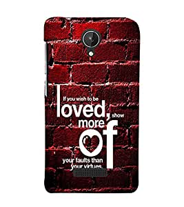 Fuson Premium Back Case Cover Loved You With black Background Degined For Micromax Canvas Spark Q380