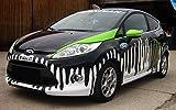3M Autofolie, 3D verformbar mit Luftkanälen, Carwrapping Folie schwarz glanz 152cm x 100cm + GRATIS 5mx3mm Knifeless Tape Finish Line NEUE SERIE VON 3M FÜR DIE FAHRZEUGVOLLVERKLEBUNG