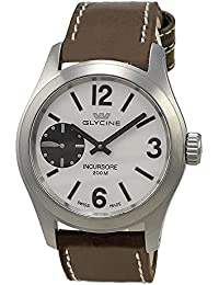 Glycine Incursore Manual Wind Stainless Steel Mens Strap Swiss Watch 3873.11 LB7BF