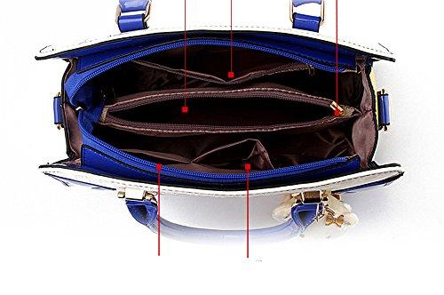 JOTHIN, Borsa a mano donna Multicolore (33cmx12cmx25cm) Länge, Breite Höhe blu