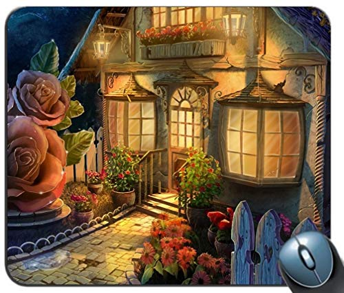 - Gemeinsame Gaming Mouse Pad, Familie Kunst Blumen Mythologie - Maßgeschneiderte rechteckige - Hof - Mousepad Gaming Mouse Pad