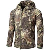 Nuevo estilo de caza al aire libre de camping capas impermeables suave shell tiburón piel desgaste ruinas camuflaje fleece dentro de la chaqueta con capucha