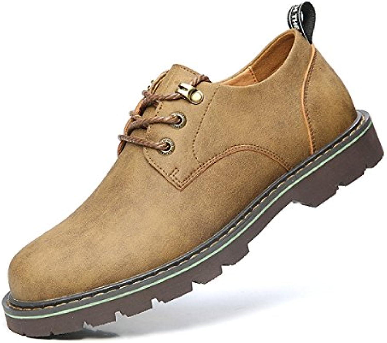 NBWE Zapatos De Herramientas Para Hombres Zapatos Casuales Al Aire Libre Con Suela Gruesa Con Escarcha,Khaki-39