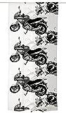 Vallila Hanaa, Motorrad Muster, Vorhang 140x250 cm, Schwarz/Weiss, Baumwoll-Mischgewebe, 250 x 140 cm