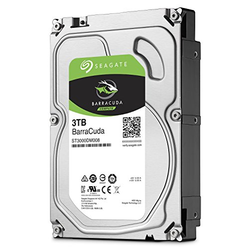 Hdd-video (Seagate BarraCuda 3 TB, ST3000DM008, interne Festplatte, 8,9 cm (3,5 Zoll), 64 MB Cache, SATA 6Gb/s)
