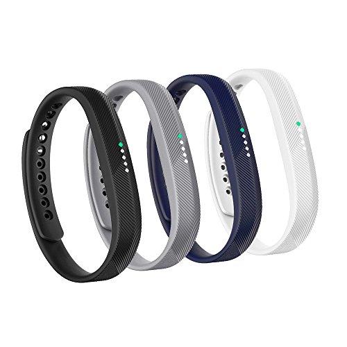 Fit-power Fitbit Flex 2 Armband, weiches Silikon-Ersatzarmband, Armband mit Metallverschluss, Armband für Fitbit Flex 2Fitness-Aktivität-Tracker, 4C, S