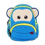 Georgie Porgy 3D Mochila Infantiles Animal Bolsas Escolares de Niños Niñas (azul)