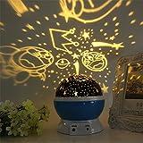 FONKIC Baby Nachtlicht Mond Sterne Projektor Schreibtischlampe USB Rechargable Kreatives Geschenk,Jingle