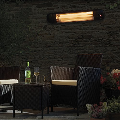 ... Garden Glow 2000W Large Electric Garden Outdoor Wall Mounted Patio  Heater, 3 Power Settings With ...