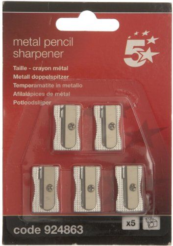 5-star-pencil-sharpener-pocket-sized-metal-for-max-diameter-8mm-single-hole-pack-of-5