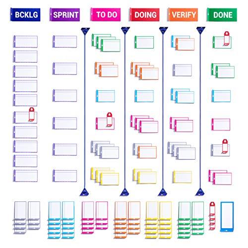 PATboard Scrum Board und Kanban Tafel Vollständiger Toolkit Magnetisch - Magnetkarten für agiles Projektmanagement Red Pat 4