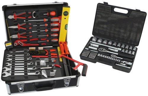 Famex 742-50 Universal Werkzeugkoffer mit Steckschlüsselsatz