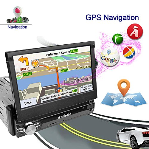 Ezonetronics 1 Din 2G DDR3 / 16GB 7 '' Flip Pantalla Táctil Android 6.0 Radio del coche Autoradio Bluetooth / GPS / FM / AM / RDS + Enlace espejo / Control remoto 0013