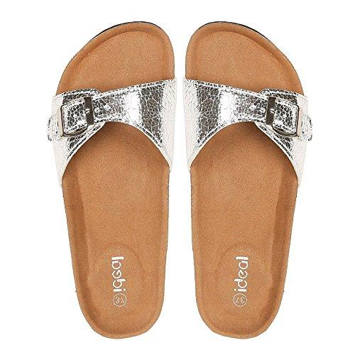 Ideal Shoes ,  Sandali donna Argento (argento)