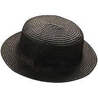 Topgrowth Cappello Donna Cappelli Paglia Vacanza Spiaggia Traspirante  Cappello di Paglia Berretto Cappello Visiera (Nero f65916a19180