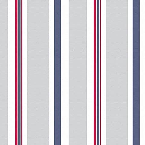 Designer Upholstery, Curtain, Sewing Fabric - Brighton Beach Stripe,