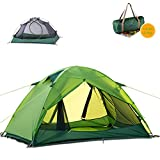 Topnaca Naturehike Lightweight 2 Person 3 Season Camping Dome Tent, Ultralight Waterproof Silicone