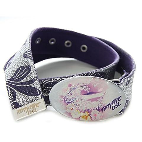 DIESEL ceinture femme CASSYE violet argent - taille 85