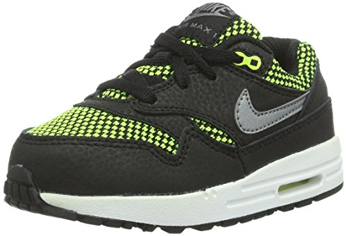 Nike Air Max 1 TD Black Toddlers Trainers Size 8.5 UK