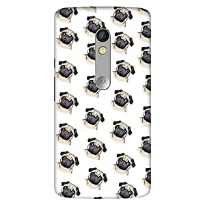 Mobo Monkey Designer Printed Back Case Cover for Motorola Moto X Play (Texture :: Art :: Patterns :: Illustration :: Pug)