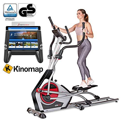 Sportstech Ellipsen Crosstrainer CX670 mit Quick-Fold-System & natürlicher Laufbewegung, 21 kg Schwungmasse, Bluetooth-& Pulsgurtkompatibel, Smart-App mit 12 Trainingsprogrammen HRC + Tablet-Halterung
