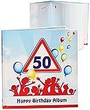 alles-meine.de GmbH Geburtstag -  50 Jahre - Happy Birthday  - Erinnerungsalbum / Fotoalbum - Gebunden zum Einkleben & Eintragen - Album & Erinnerungsbuch - Fotobuch / Photoalb..