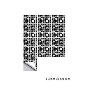 Fliesen-Sticker Selbstklebende 3D-Mosaik-Fliesenaufkleber, 15x15cm 3er-Set Badezimmerdeko Kunststoff-Fliesen