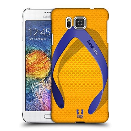 Head Case Designs Schlicht Flip Flops Ruckseite Hülle für Samsung Galaxy Alpha (Alpha Flip-flops)