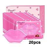 Anself 20St Lip Maske Kristall Kollagen Lip Pads Lip Reparatur Feuchtigkeitsessenz Anti Aging Falten Patch