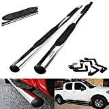 Polished Chrome Side Step Skirt Rail Protection Bar Running Board For 2005-15 Nissan Navara D40 NP300 Pickup