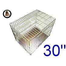 Ellie-Bo - Jaula plegable para perro con 2puerta con bandeja de metal que no podrá morder, tamaño mediano de 30pulgadas (76,2 cm)