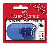 Faber-Castell 183597 - Doppelspitzdose, farblich sortiert in rot und blau -keine...